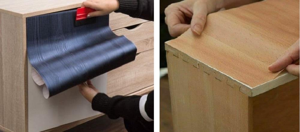 plakfolie houten print