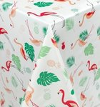 Rond tafelzeil flamingo jungle