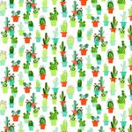 rond tafelzeil cactussen bloemen
