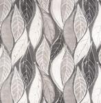 rond tafelzeil bladeren grijs