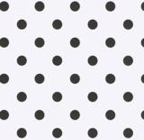 Ovaal tafelzeil wit met zwarte stippen (140cm breed)_