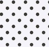 Tafelzeil wit met zwarte stippen (140cm breed)_