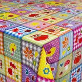 Tafelzeil patchwork figuurtjes_