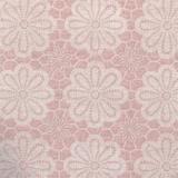 Rond tafelzeil vintage bloemen oud roze (ca. 137cm)_