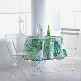 rond tafelkleed botanisch groen