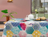 tafelzeil patchwork op tafel