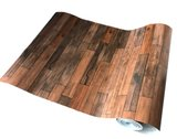 Plakfolie laminaat houtlook donker (45cm)_