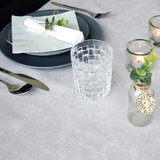 Ovaal tafelzeil betonlook_