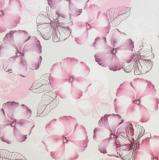 Tafelzeil bloemen roze/paarse tinten_
