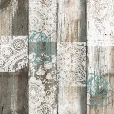Groot rond tafelzeil steigerhout romantic (160cm)