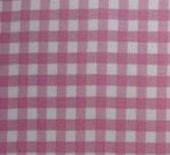 45x120cm Restje Mexicaans tafelzeil ruitjes roze