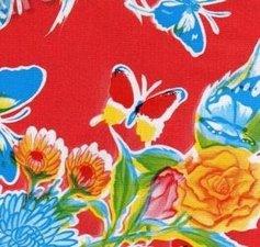 SALE Mexicaans tafelzeil vlinder rood 115x120cm