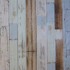65x140cm Restje tafelzeil steigerhout blauw/grijs/bruin