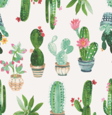 60x140cm Restje tafelzeil cactus