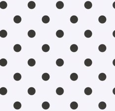 SALE tafelzeil wit met zwarte stippen 145x140cm