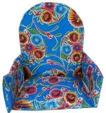 Kitsch Kitchen stoelverkleiner floral blauw