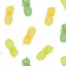 Ovaal tafelzeil ananas op wit