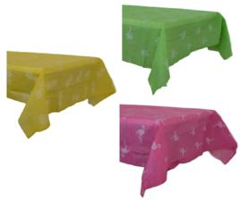 Tafelkleed papier/flanel 130x180cm ananas geel