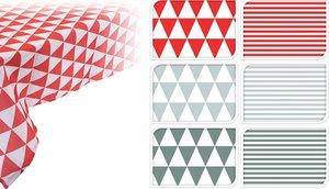 Tafelkleed 130x180cm driehoekjes rood