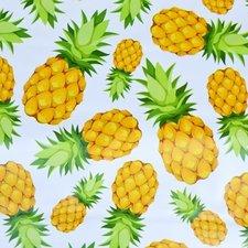 SALE tafelzeil ananas op wit 130x140cm