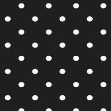 Groot rond tafelzeil stippen zwart (160cm)