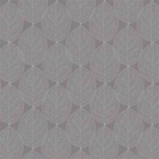 95x140cm Restje tafelzeil leafs antraciet grijs