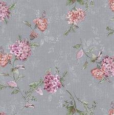 Groot rond tafelzeil brocante bloem roze (160cm)