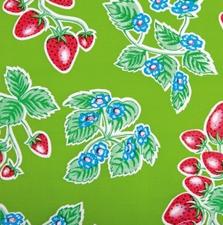 Rond Mexicaans tafelzeil aardbei groen (120cm)