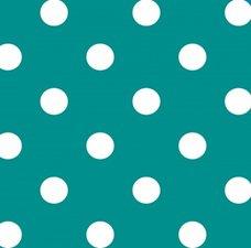 Ovaal tafelzeil stippen turquoise