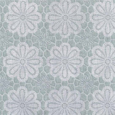 Tafelzeil vintage bloemen blauw/groen