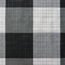 SALE linnen tafelzeil geblokt wit/grijs/zwart 150x140cm (wasbaar)