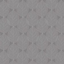 SALE Tafelzeil leafs antraciet-grijs 100x140cm