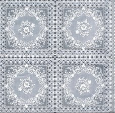 95x140cm Restje tafelzeil kant rozen wit