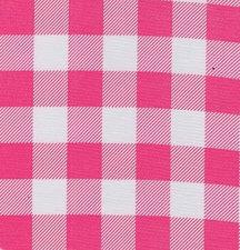 Rond Mexicaans tafelzeil  boerenruit roze (120cm)