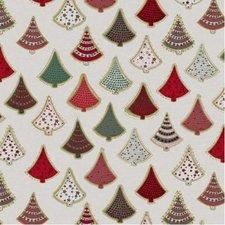 Tafelzeil Kerst kerstbomen rood