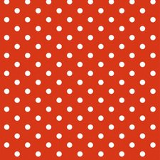 Rond Mexicaans tafelzeil rood met witte stippen (120cm)