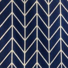 Blauw tafelkleed visgraat 180x130cm