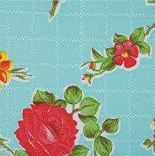 Ovaal Mexicaans tafelzeil rosendal mint