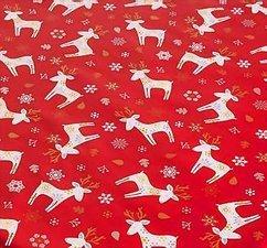 30x140cm Restje Kerst tafelzeil eland rood
