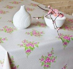 Rond tafelzeil roos boeketje (140cm)