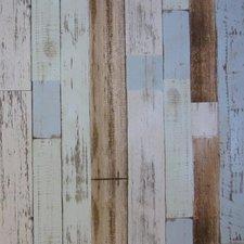 Rond tafelzeil steigerhout blauw/bruin/grijs (140cm)