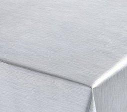 Rond tafelzeil rvs look (137cm)
