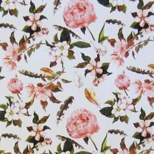 Tafelzeil bloemen en veren