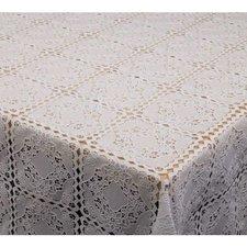 35x140 Restje tafelzeil kant wit