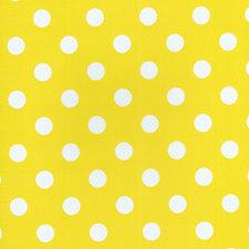 Ovaal tafelzeil geel met witte stippen