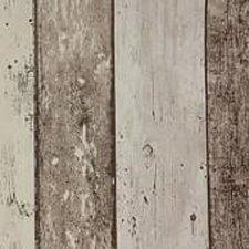 Rond tafelzeil steigerhout bruin/beige (140cm)