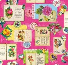 Ovaal tafelzeil poetry roze