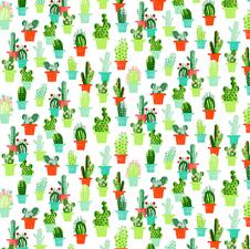 Tafelzeil cactussen met bloemen