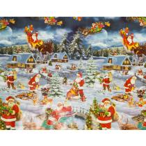 50x140cm Restje tafelzeil winterwonderland