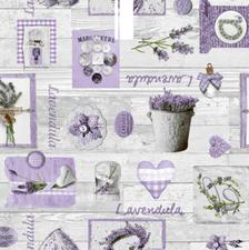 SALE tafelzeil lavendel paars 145x140cm